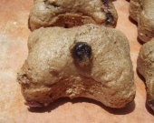 Shorty's Gourmet Treats - - Blueberry Oat Bran Muffins- - All Natural Organic Vegetarian Bone Shaped Dog Soft Treats