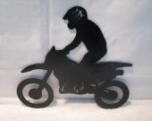 Motorcycle/Rider 7 Wall Art Metal Silhouette