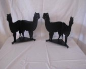 Alpaca Candle Reflector Metal Silhouette Set of (2)