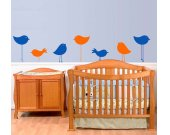BIRDS Set of Seven Vinyl Wall Art
