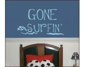 GONE SURFIN Vinyl Wall Decal LARGE