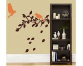 BIRDS BRANCHES LEAVES Vinyl Wall Art