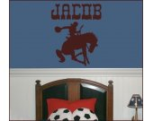 PERSONALIZED MONOGRAMED COWBOY Vinyl Wall Art