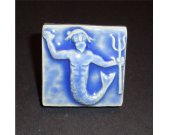 Magnet Handmade Art Tile - Merman