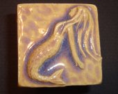 Magnet Handmade Art Tile - Mermaid