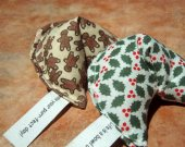 HAPPY HOLIDAYS Organic Catnip Toys KITTY Size - Feline Fortunes