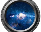 Galaxy Seen Through a Porthole Vinyl Wall Decal