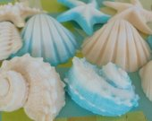 Ivory and Aqua Seashell Gift Set - Gift Boxed