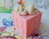Baby Girl Block Soap
