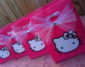 "8 ""Simply Sweet"" Hello Kitty Handmade Custom Birthday Favor Gift Bags!"