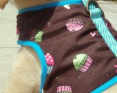 Cupcake Cutie - Organic Cotton Super Soft Harness Vest SMALL Fully Chenille Lined