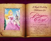 Aurora Sleeping Beauty Disney Princess Birthday Party Invitation -DIGITAL FILE