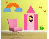 Princess Castle Wall Decal    EXTRA LARGE