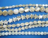 bulk star oval coin disc heart leaf assortment cream white natural mother of pearl shell pendants 6-10mm full strand---5strands