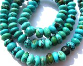 genuine  rondelle abacuse green tibetan  turquoise bead gemstone 4x6mm 100pcs full strand