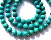 genuine round ball  green tibetan  turquoise bead gemstone 5-6mm 65pcs full strand