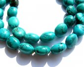 genuine high quality freeform nugget egg tibetan  turquoise bead gemstone 8-10mm 38pcs full strand