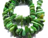 Genuine freeform nuggets chip olive green chrysoprase bead gemstone 8-12mm  full strand--free ship