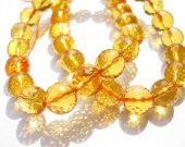 gemstone round ball handmade faceted briolette citrine quartz bead 10m 40pcs full strand