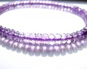 AA grade genuine rondelle abacus faceted amethyst quartz bracelet 3x5mm 52pcs