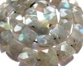 wholesale genuine square box faceted natural labradorite stone gemstone 8mm 50pcs full strand