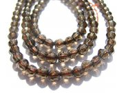 high quality gemstone round balllfaceted brown genuine smoky quartz bead 4mm 100pcs full strand--2strands