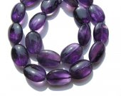 wholesale genuine oval natural amethyst quartz bead 13x18mm 22pcs full strand