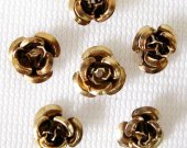 Brown Aluminum Roses, 6mm, FIFTY