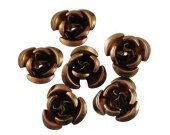 Brown Aluminum Roses, 12mm, FIFTY