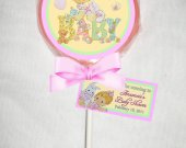 Precious Moments Baby Shower Personalized Chocolate Lollipop or Cookie Favor