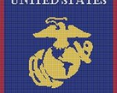 I LOVE MY MARINE CROCHET PATTERN AFGHAN GRAPH E-MAILED.PDF by