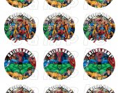Marvel Comics Set of 12 2.5 Inch Round Personalized Stickers or Cupcake Toppers