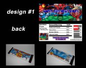 Marvel Comics Set of 12 Personalized Candy Bar Wrappers Party Favors