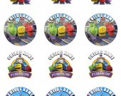 Chuggington Train Set of 12 2.5 Inch Round Personalized Stickers or Cupcake Toppers