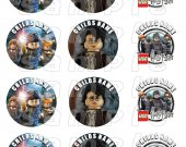 Lego Harry Potter Set of 12 2.5 Inch Round Personalized Stickers or Cupcake Toppers