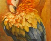 Macaw Art Print is available as a set of six notecards.