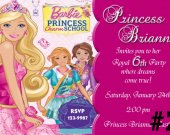 Barbie Charm School  Birthday Party Invitation Photo Personalized Digital File You Print