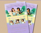 Jasmin Aladdin Girls Birthday Invitations