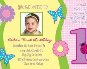 1 year old Birthday Invite