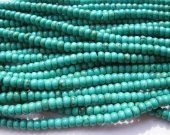 batch high quality rondelle abacuse green turquoise bead 4x6mm -5strands 500pcs