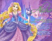 Tangled Princess Rapunzel Girls Invitations