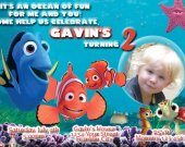 Finding Nemo Personalized Photo Birthday Party  Invitation You Print Digital File