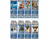 Ice Age 4 Continental Drift Ticket Style Personalized Party Invitations