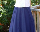 Cowboy Victorian Bustle Skirt in Cotton Cowboy with Adjutable Waist
