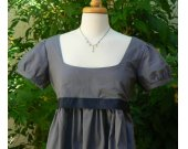 Regency Dress Jane Austen Inspired Mini Cotton Empire Waist