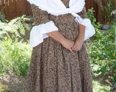 Colonial 18th Century Day Dress Cotton Historical Costume