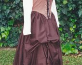Cotton Skirt with Waistband Renaissance Prairie Victorian Historical Costume