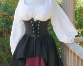 Renaissance Pirate Dress Waist Cincher Wench Costume