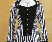 Steampunk Victorian Stripe Bustle Gown Historical Costume