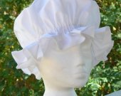 Colonial Mob Cap Womans Bed Hat Cotton Coif Costume